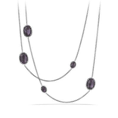 Chatelaine Chain Necklace with Black Orchid