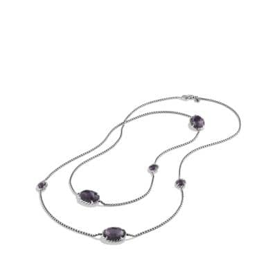 Châtelaine Chain Necklace with Black Orchid