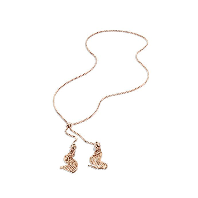 Renaissance Tassel Necklace in 18K Rose Gold