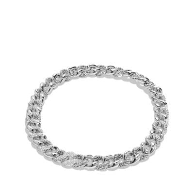 Belmont® Curb Link Necklace with Diamonds
