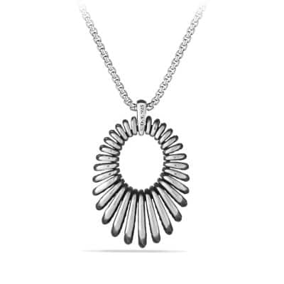 Tempo Pendant Necklace with Diamonds