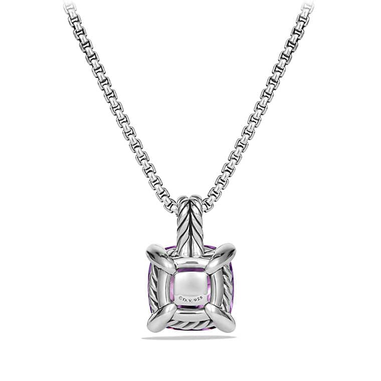 Châtelaine Pendant Necklace with Amethyst and Diamonds, 11mm