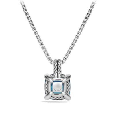 Chatelaine Pendant Necklace with Hampton Blue Topaz and Diamonds, 11mm