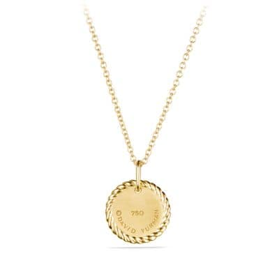 Horseshoe Necklace with Diamonds in 18K Gold