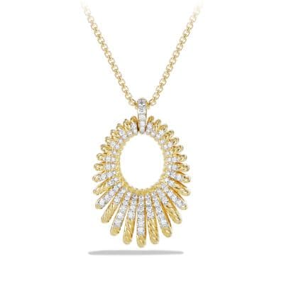 Tempo Pendant Necklace with Diamonds in 18K Gold
