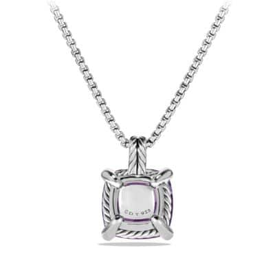 Pendant Necklace with Amethyst and Diamonds