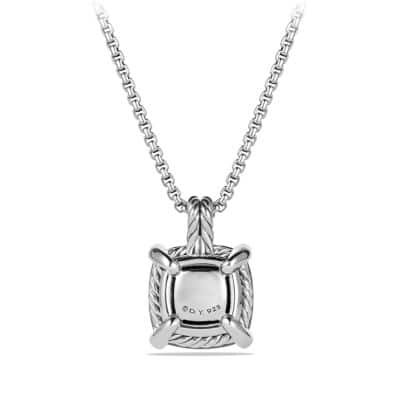 Chatelaine Pendant Necklace with Hematine and Diamonds, 14mm