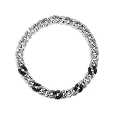 Belmont® Curb Link Necklace with Black Onyx