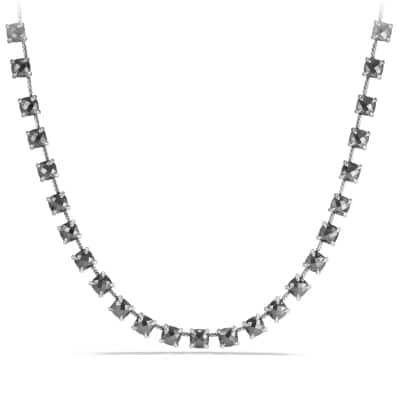 Chatelaine Necklace with Hematine and Diamonds