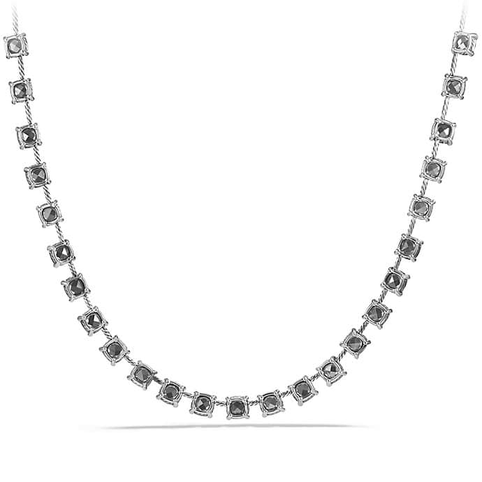 Châtelaine Necklace with Hematine and Diamonds
