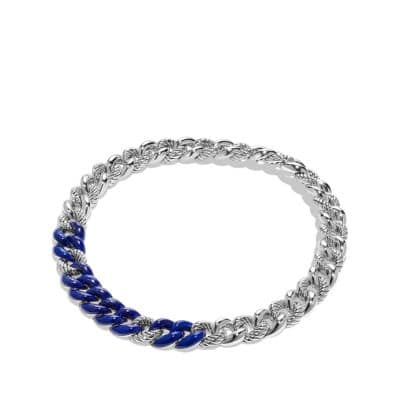 Belmont Curb Link Necklace with Lapis Lazuli
