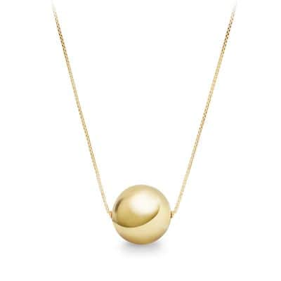 Solari Pendant Necklace with Pearls in 18K Gold, 32mm