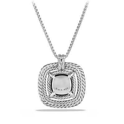 Châtelaine Pave Bezel Necklace with Black Onyx and Diamonds, 24mm