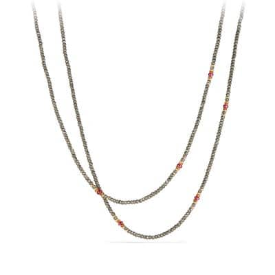 Osetra Tweejoux Necklace with Pyrite, Spessartite, Rhodalite Garnet and 18K Gold thumbnail