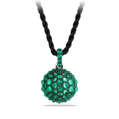 Osetra Pendant Necklace with Green Onyx, 20mm