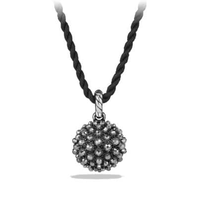 Osetra Pendant Necklace with Hematine, 20mm