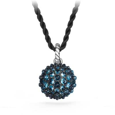 Osetra Pendant Necklace with Hampton Blue Topaz, 20mm