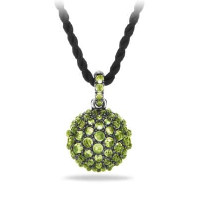 Osetra Pendant Necklace with Peridot, 20mm
