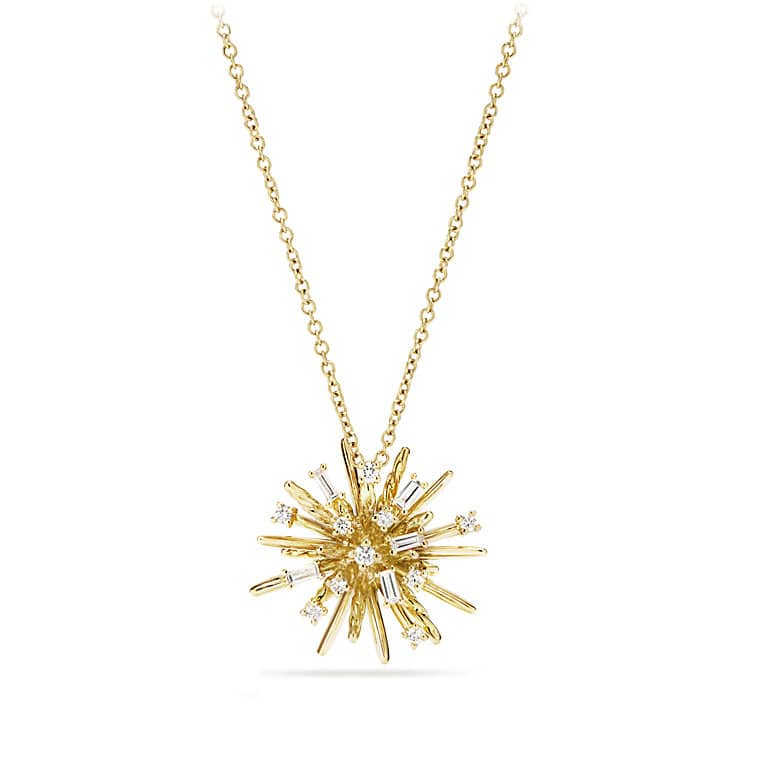 Small pendant necklace with diamonds in 18k gold supernova small pendant necklace with diamonds in 18k gold audiocablefo