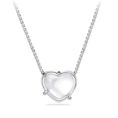 Le Petit Coeur Sculpted Heart Chain Necklace with Crystal and Diamonds