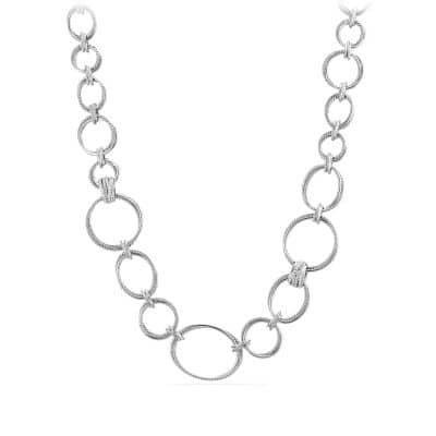 Crossover Convertible Statement Necklace with Diamonds
