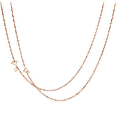 DY Bel Aire Chain Necklace in Matte Rose Goldtone with 14K Rose Gold Accents
