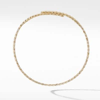 Pavéflex Single Row Necklace with Diamonds in 18K Gold