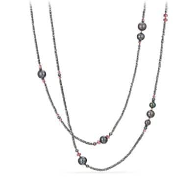 Oceanica Tweejoux Necklace with Pearls, Hematine and Rhodolite Garnet