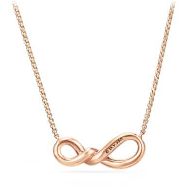 Continuance Small Pendant Necklace with Diamonds in 18K Rose Gold