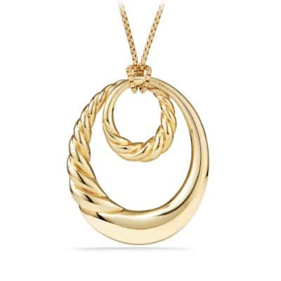 Pure Form® Pendant Necklace in 18K Yellow Gold, 52mm