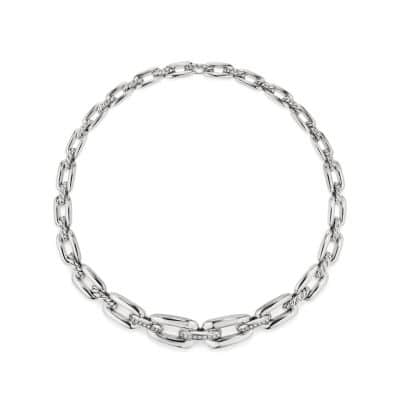 Wellesley Link™ Short Chain Necklace with Diamonds