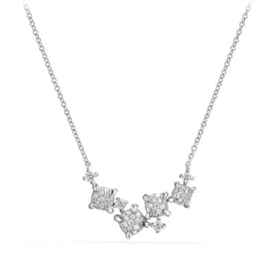 Precious Chatelaine® Necklace with Diamonds in 18K White Gold