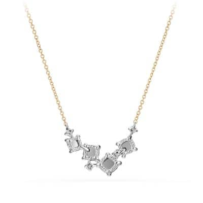 Precious Chatelaine Necklace with Diamonds in 18K White Gold