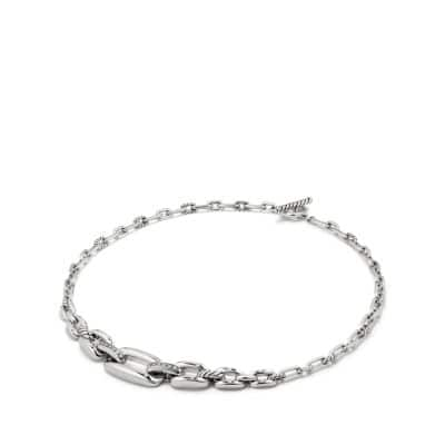 Wellesley Link™ Chain Station Necklace with Diamonds