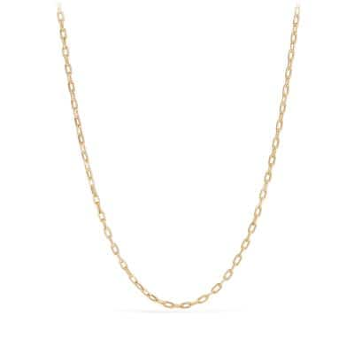 DY Madison Chain Thin Necklace in 18K Gold, 3mm