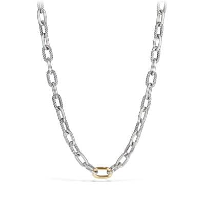 DY Madison Medium Necklace with 18K Bonded Gold, 11mm