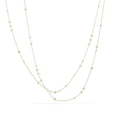 Starburst Constellation Multi-Strand Necklace in 18K Gold with Diamonds