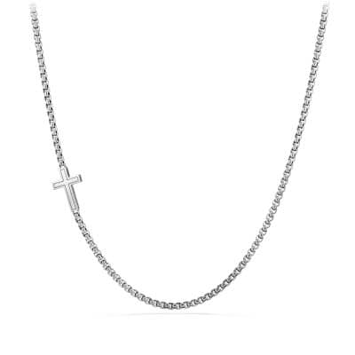 Pavé Cross Necklace with Black Diamonds