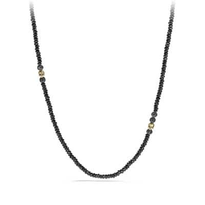 Skull Necklace with Black Spinel, Black Diamonds and 18K Gold
