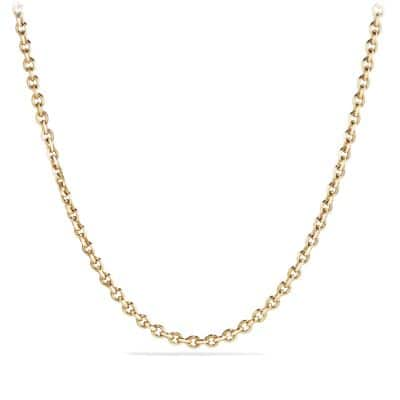 Knife Edge Chain Necklace in 18K Gold, 4.6mm