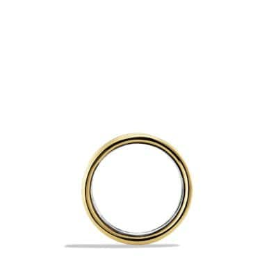 Cable Band Ring with 14K Gold