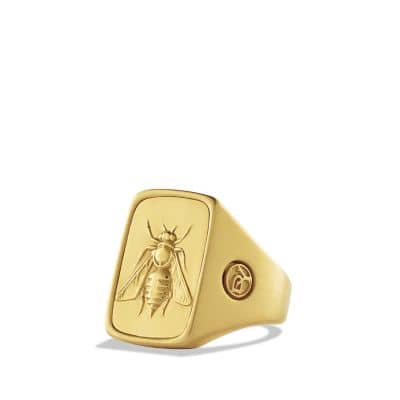 Petrvs Bee Signet Ring in Gold thumbnail