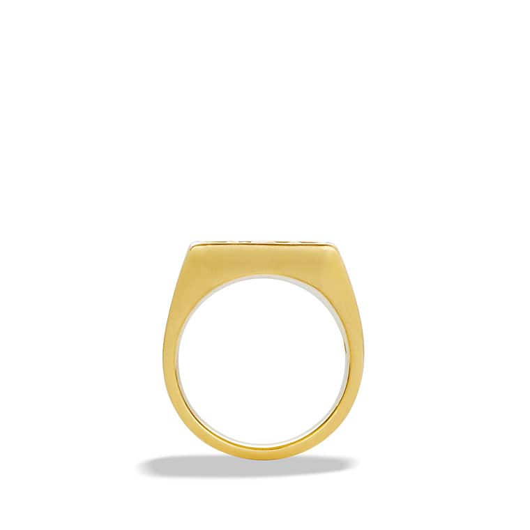 Petrvs Bee Signet Ring in Gold