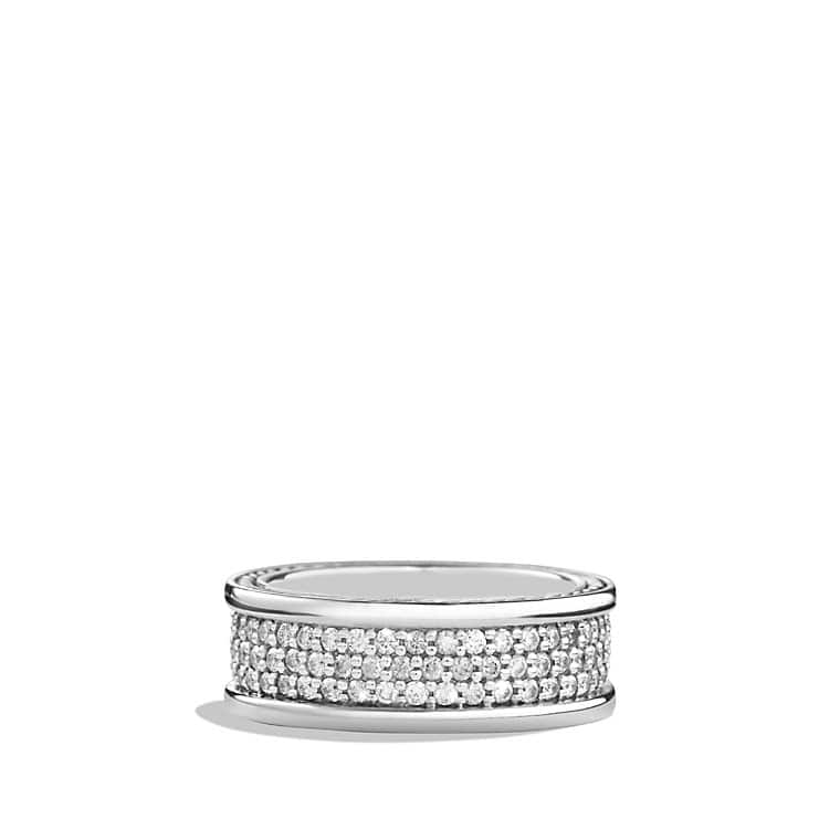 Streamline Three-Row Band Ring with Diamonds