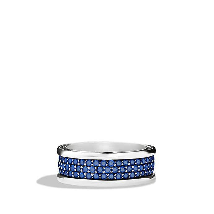Streamline Three-Row Band Ring with Sapphires