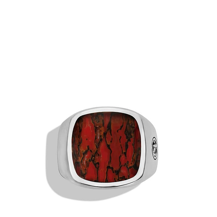 Signet Ring with Dinosaur Bone