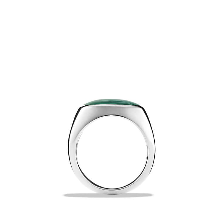 Signet Ring with Malachite