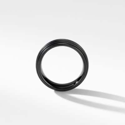 Royal Cord Wide Band Ring with Black Titanium