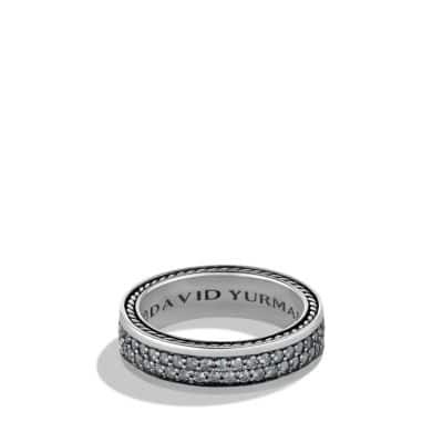 Streamline Two-Row Band Ring with Gray Sapphires