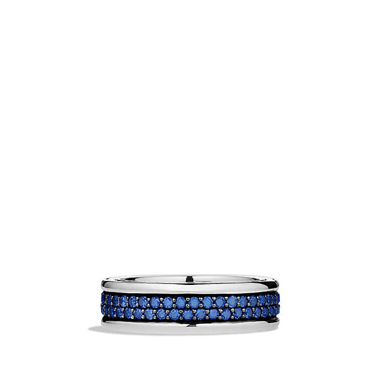 Streamline Two-Row Band Ring with Sapphires